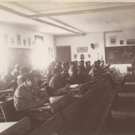 Students sitting in classroom.