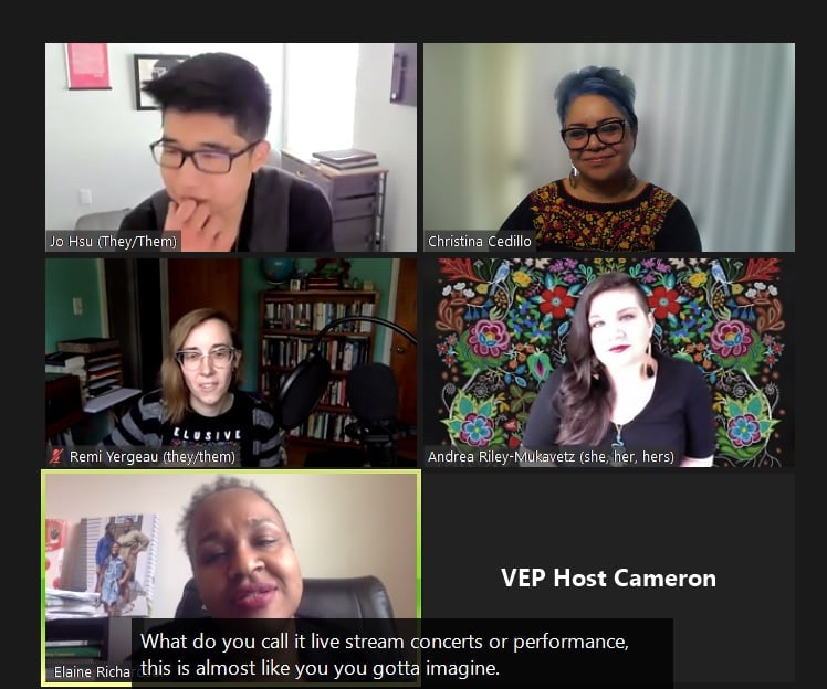 Image of a gathered group of cultural rhetoricians on a zoom call.